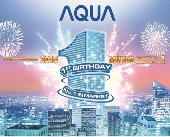 Mừng 1 năm ra mắt, AQUA tự hào vị trí số 1