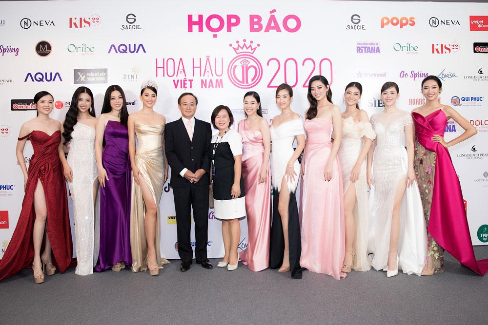 Họp báo Hoa hậu Hoa hậu Việt Nam 2020 quy tụ nhiều Hoa hậu, Á hậu, người đẹp tham dự.