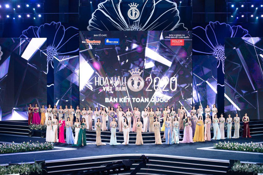 Sân khấu đêm Bán kết Hoa hậu Việt Nam 2020 được dàn dựng quy mô và hoành tráng