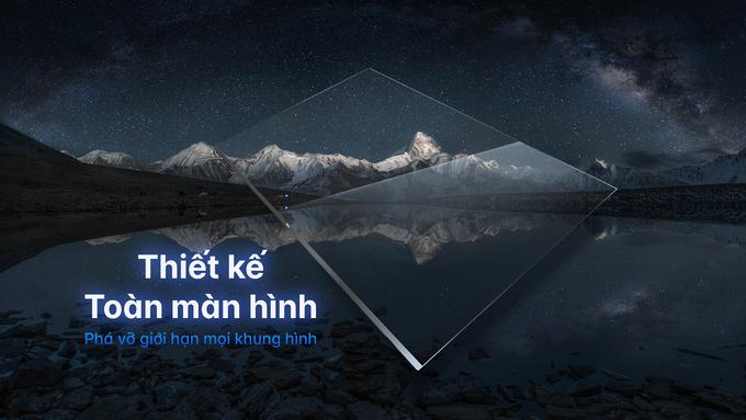 Tivi Aqua với thiết kế toàn màn hình nhằm giúp người xem hình ảnh lớn, sắc nét.